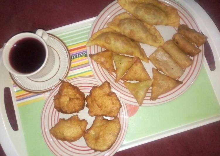 Spiced hibiscus tea&snacks