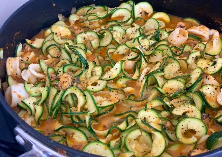 Recipe: Perfect Seafood Chilli Marrow Pasta