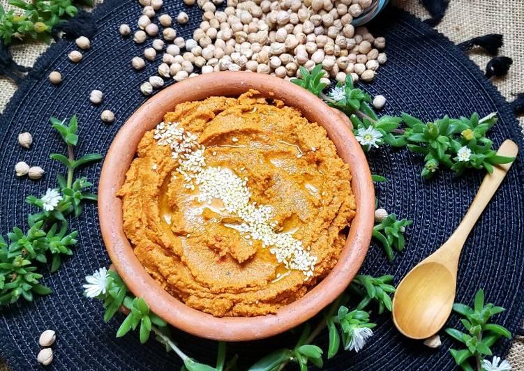 Hummus de Zanahoria🥕y tomates🍅