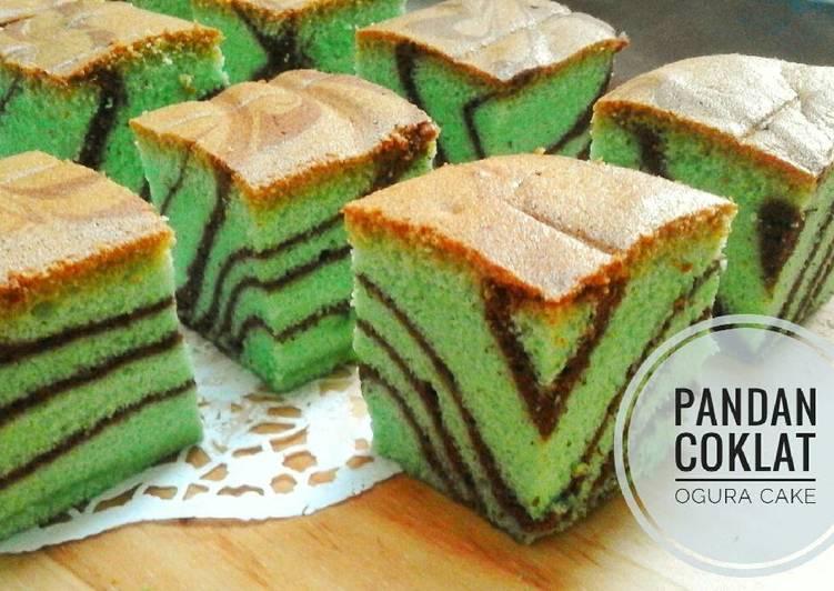 Pandan Coklat Ogura cake