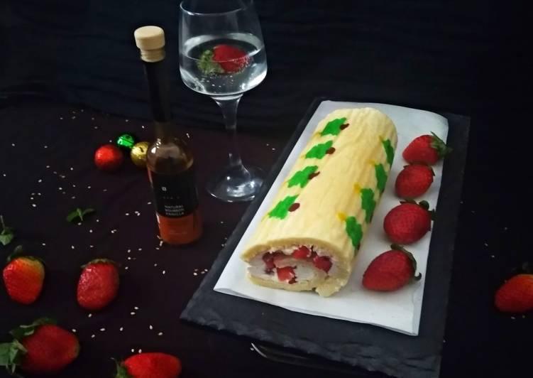 Recipe of Ultimate Strawberry Vanilla Roll Cake