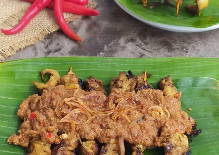 Sate Jamur Tiram Bumbu Kacang