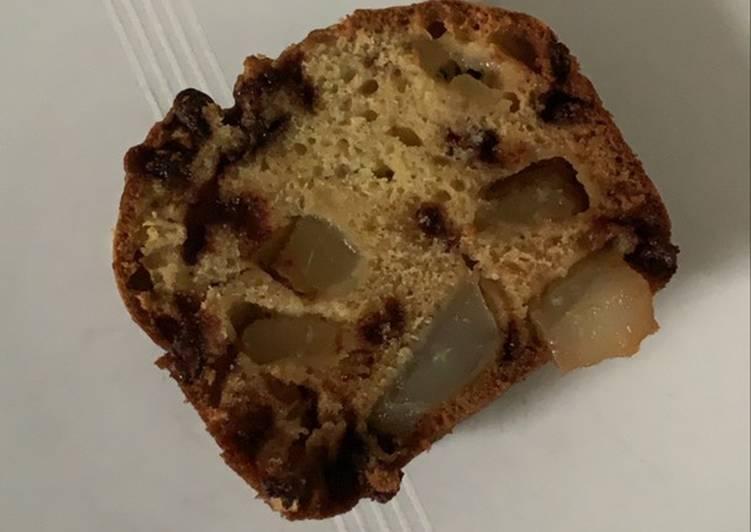 Recette Savoureux Cake poire / pépites de chocolat