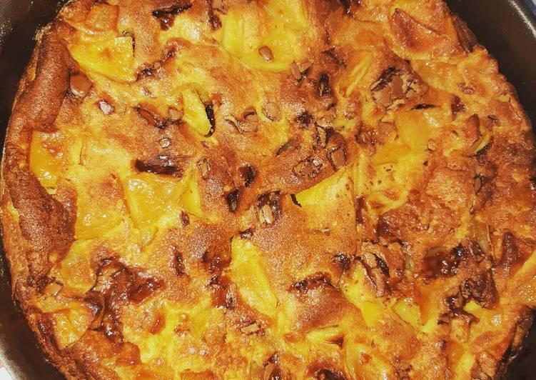 Recette Savoureux Gateau aux pommes rôties et bonbons Daims