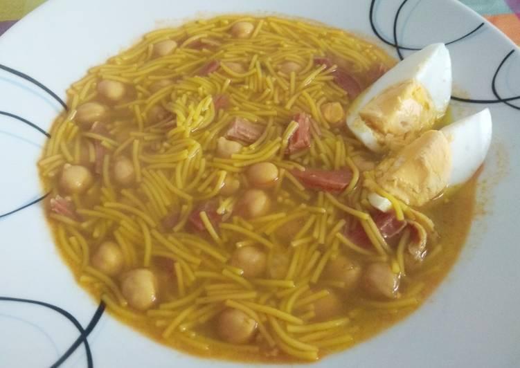 Sopa de cocido especial