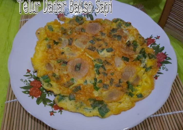Resep Telur Dadar Bakso Sapi yang Bikin Ngiler