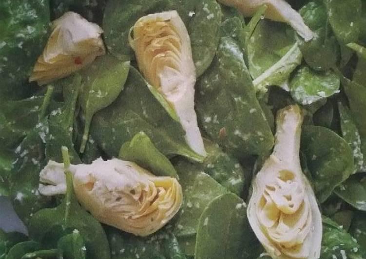 Recipe of Favorite Spinach and Artichoke Salad by Rocco Dispirito