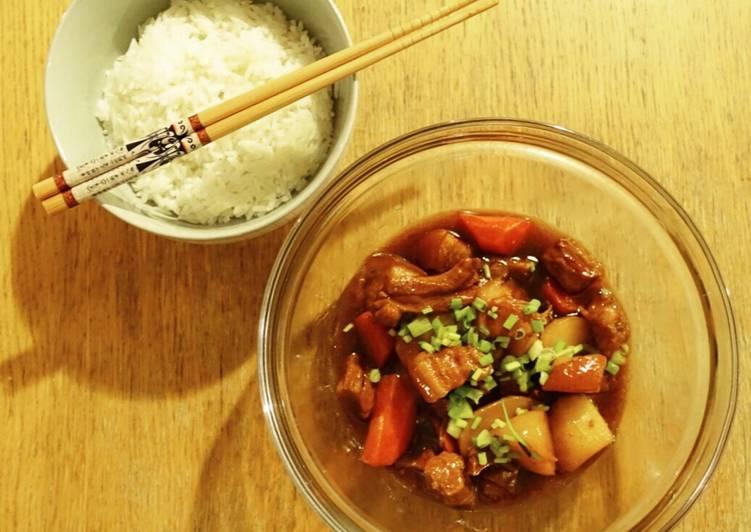 Recipe of Quick Braised Pork in Brown Sauce