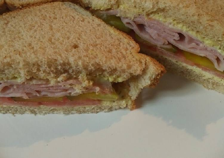 Recipe: Tasty Ham Sandwich batch 7