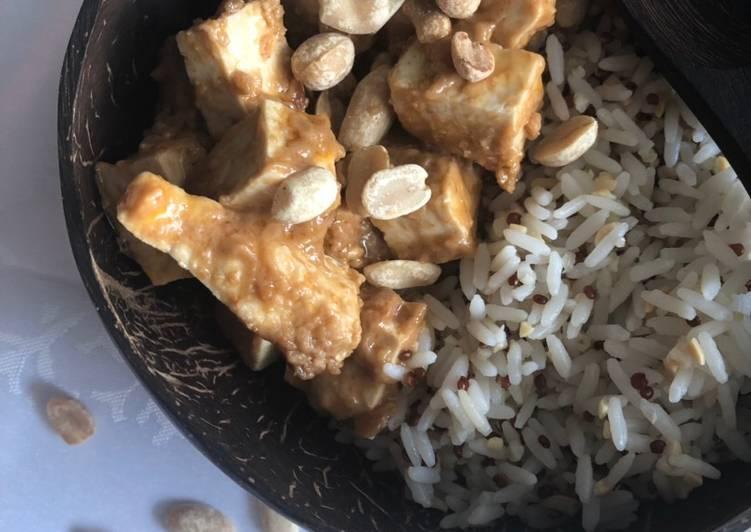 Tofu épicé aux cacahuètes