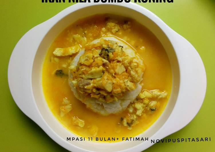 Ikan nila bumbu kuning (MPASI 11 bulan+)