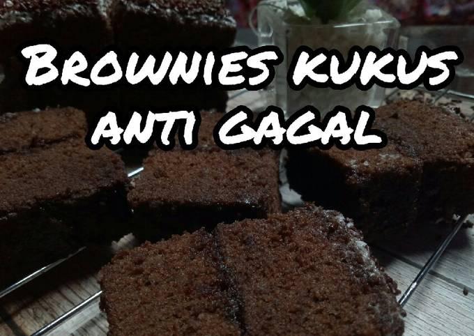 Brownies kukus coklat yang lembut hingga 2 hari