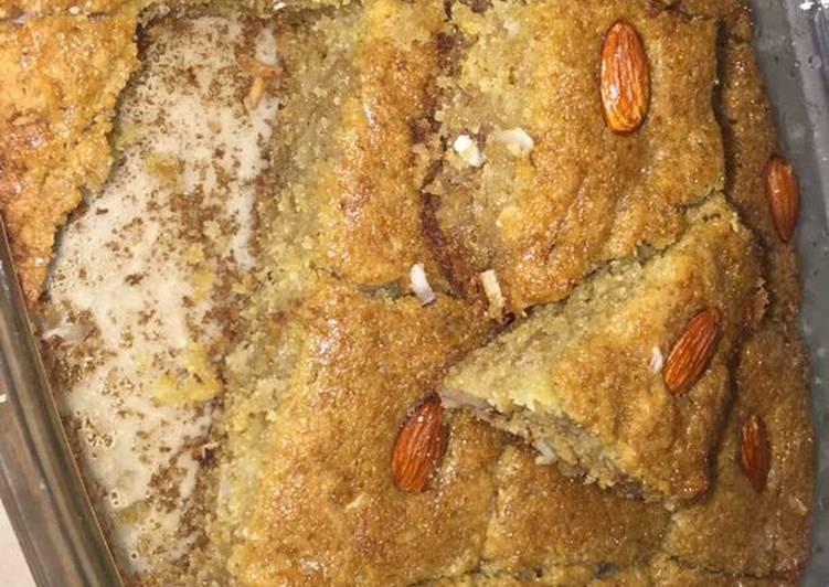 Steps to Make Ultimate Basbousa (semolina cake)