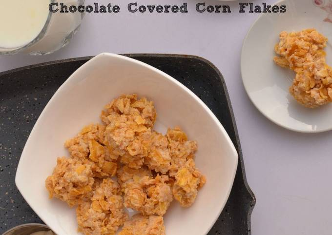 Chocolate Corn Flakes Recipe | No Bake Cooking With Kids