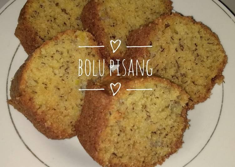 resep memasak Bolu Pisang (Irit 1 Telur, Lembut, Praktis) - Sajian Dapur Bunda
