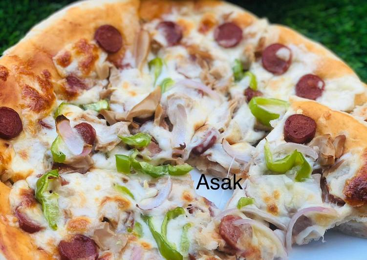 How to Prepare Super Quick Homemade Sausage pizza