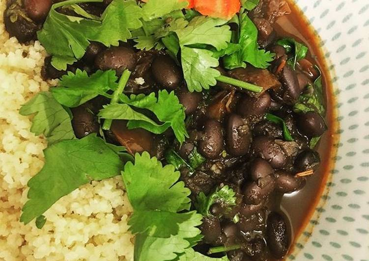Steps to Prepare Favorite Carrot & bean stew