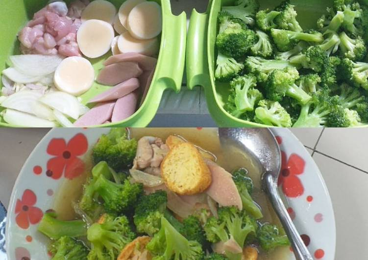 Cah brokoli tofu ayam saos tiram