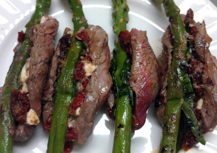 Grilled Beef Asparagus Rolls