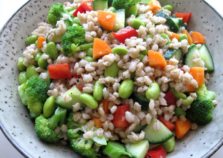 Steps to Make Speedy Crunchy Barley Salad