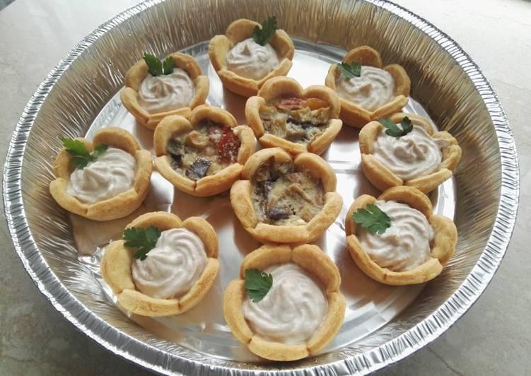 Ricetta Cestini di pasta frolla salata