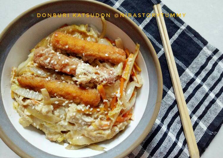 Donburi katsudon (vege and nugget)