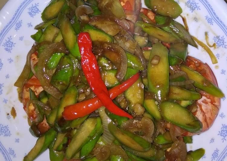 Asparagus udang basah saus tiram