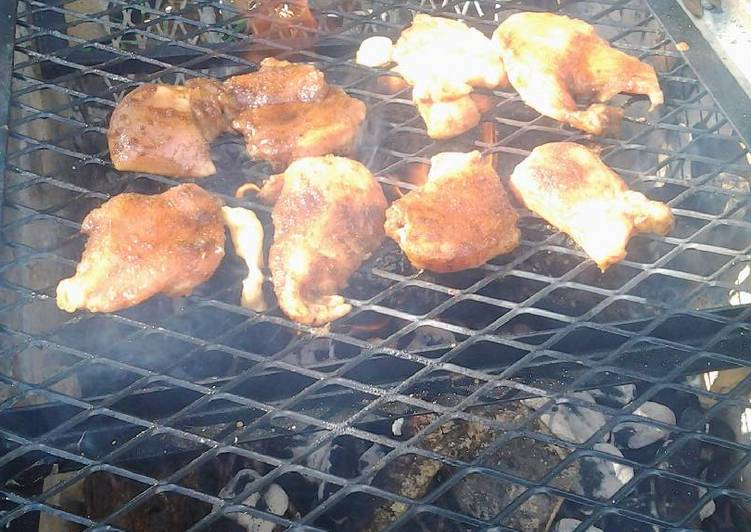 Floridian backyard grilled chicken