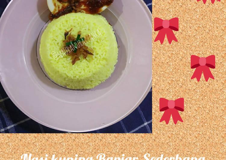 Nasi kuning Banjar Sederhana