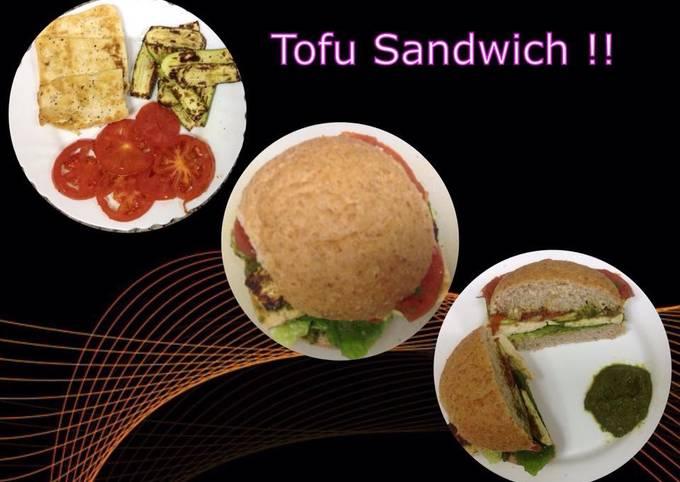 Healthy Tofu Sandwich