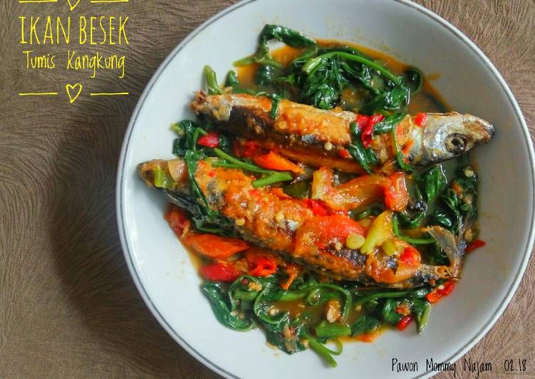 Resep Ikan Besek Tumis Kangkung Oleh Pawon Mommy Najam Cookpad