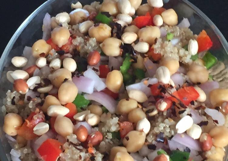 Try Using Food to Elevate Your Mood Chana Peanut and quinoa relish