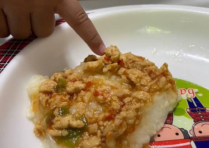 Resep Mpasi Nasi Tim Ayam Mentega 11m Oleh Dapurania Cookpad