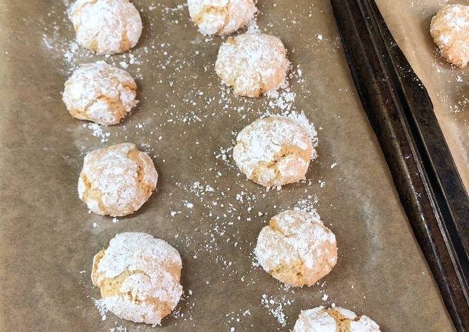 Recipe Of Perfect Amaretti Biscuits Shortcake