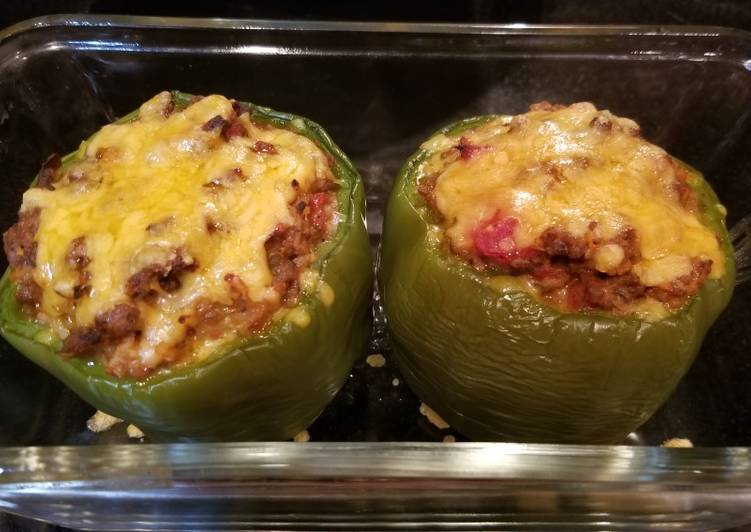 Cheesy Stuffed Green Bell Peppers
