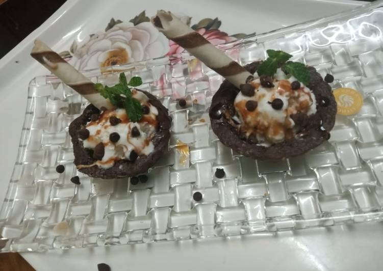 Steps to Make Homemade Delicious brownie dessert