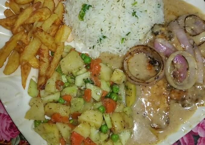 Chicken pepper steak 😻💗