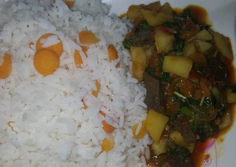 30 Minute Recipe of Diet Perfect White rice and liver sauce