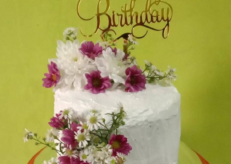 Resep: Enak Simple Rustic Birthday Cake