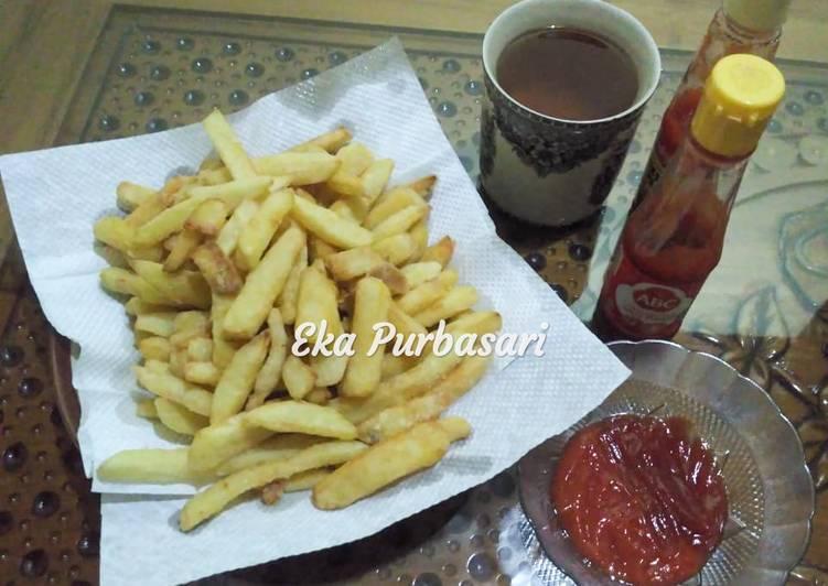 Kentang goreng ala KFC simpel