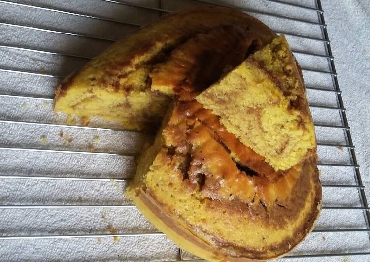 Grandmother's Dinner Easy Super Quick Homemade Pineapple marble cake # baking contest