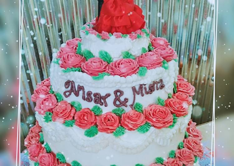 Resep Wedding Cake Tingkat Oleh Nabila Amira Cookpad