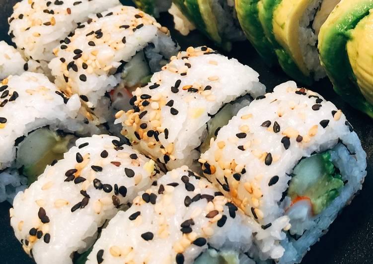 Sushi California Roll Receta De Niqui Cookpad