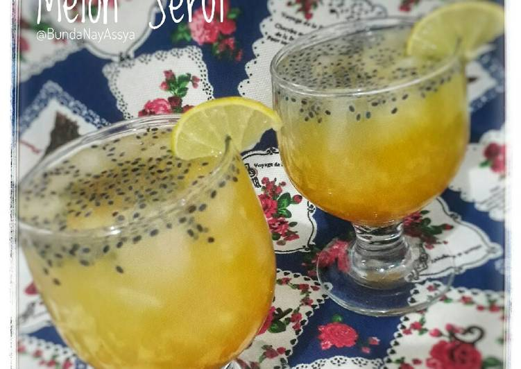 Es Jeruk Melon Serut