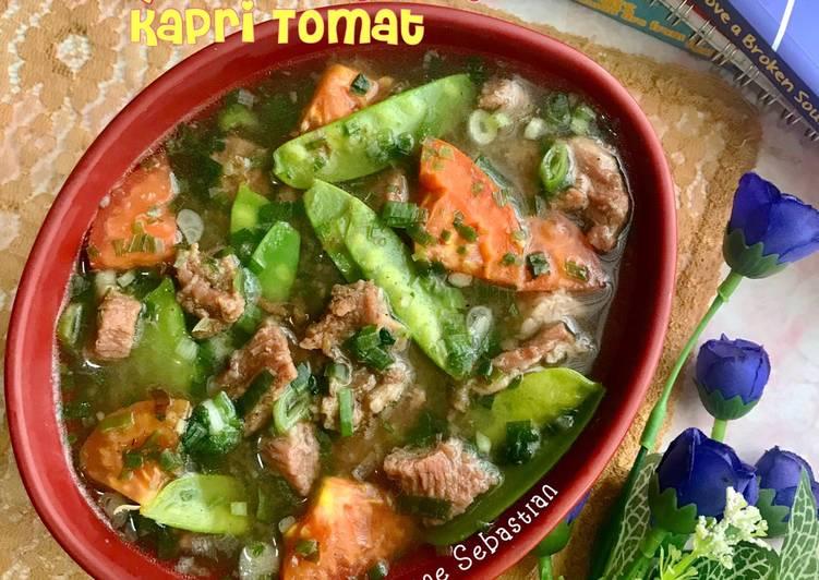 Sup Daging Kapri Tomat (dengan pressure cooker)
