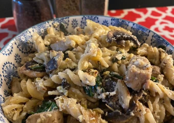 Spinach chicken carbonara