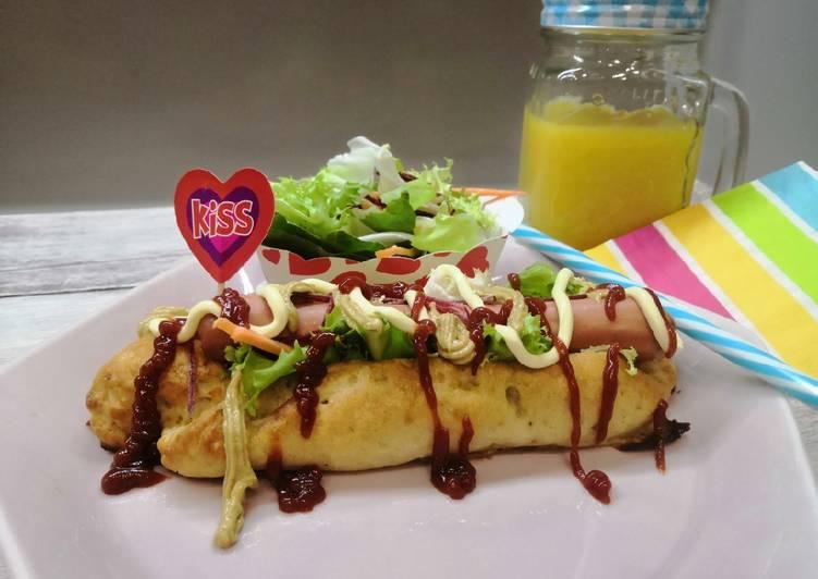 Glutén és tejmentes hot dog recept foto