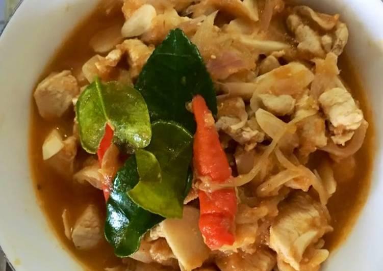 Sup ayam dengan puree tomat (Menu diet GM hari ke-5)