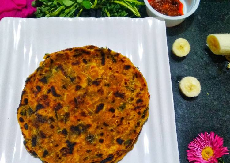 Step-by-Step Guide to Make Super Quick Homemade Spicy multigrain methi and banana thepla