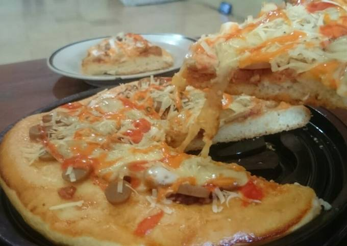 Resep Pizza Tanpa Telur Dan Tanpa Ulen Tetap Empuk Meski Sudah Dingin Oleh Aprilia Cookpad